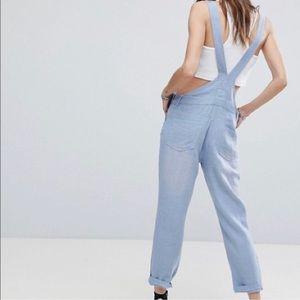 Signature8 Pants & Jumpsuits - Signature8 Distressed Linen Overalls